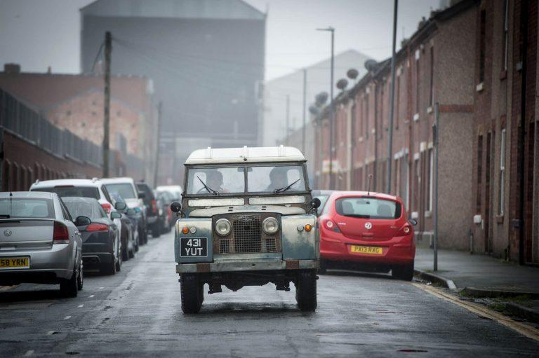 Land Rover scene, The Strike