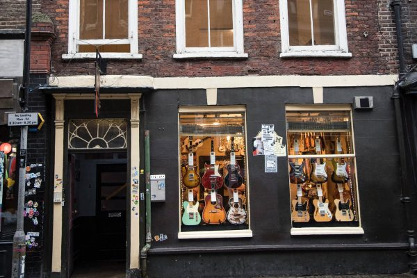 Denmark street guitar shop